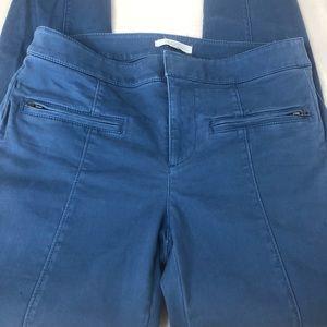 LOFT Blue High Wait Slim Zip Pocket Pants